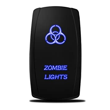 amazon com mictuning mic lsz1 5 pin zombie rocker switch on off mictuning mic lsz1 5 pin zombie rocker switch on off led light 20a