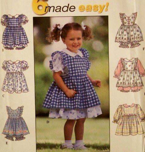- Simplicity Pattern 8540. Girls/toddler/baby Sizes 1/2; 1; 2 Dress, Pinafore, & Panties. Casual to Dressy. Easter, Etc