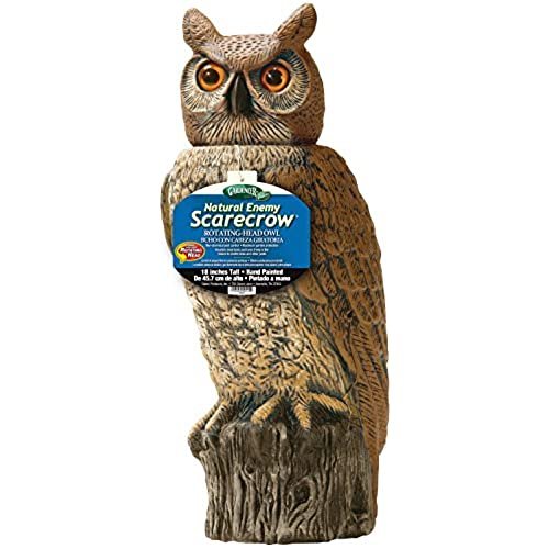 Dalen Gardeneer By RHO4 Natural Enemy Scarecrow Rotating Head Owl