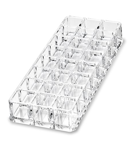byAlegory Premium Beauty Organization Acrylic Lipstick Organizer & Beauty Container 24 Space Storage (Clear)