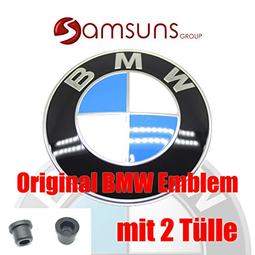 """""""BMW Genuine Hood Roundel Emblem with 2 Grommets for All Model and for Trunk of E32/e38 7-series From 86 - 01, E34 5-series From 88 - 95, E36 3-series From 90 - 99"""" for sale"""