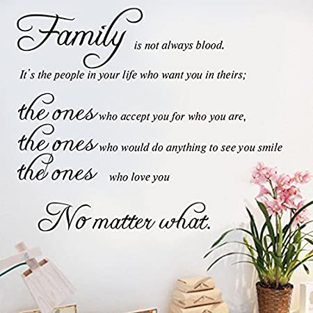 Family Wall Decals Family Wall Quotes Family Isnt Always Blood
