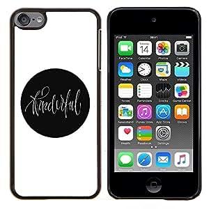 KLONGSHOP // Cubierta de piel con cierre a presión Shell trasero duro de goma Protección Caso - arte en punto - Apple iPod Touch 6 6th Touch6 //