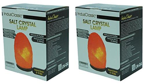 Indusclassic Set Of 2 Natural Himalayan Crystal Rock Salt...