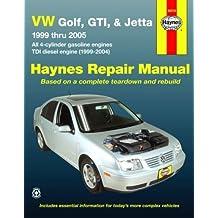 VW Golf, GTI, & Jetta, 1999 Thru 2005: All 4-Cylinder Gasoline Engines; TDI Diesel Engine (1999-2004) (Haynes Repair Manual) by Jay Storer (15-Jun-2008) Paperback