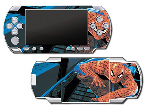 piderman 1 2 3 Cartoon Movie Video Game Vinyl Decal Skin Sticker Cover for Sony PSP Playstation Portable Original Fat 1000 Series System ()