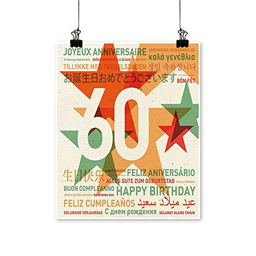 Single Painting World Cities Birthday Party with Abstract Stars Green Vermilion and White Office Decorations,12