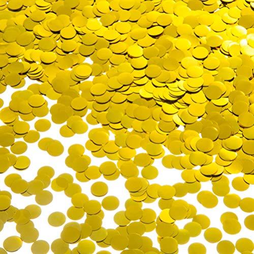 MOWO Gold Metallic Confetti Circle Dots for Table Wedding Birthday Party Decoration, 1cm in Diameter (Metallic Gold,60 Grams)