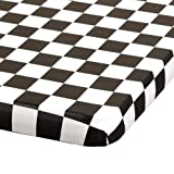 Hoffmaster 221112 Kwik-Cover Plastic Banquet Tablecover, 72'' Length x 30'' Width, Black/White Check (Case of 25)