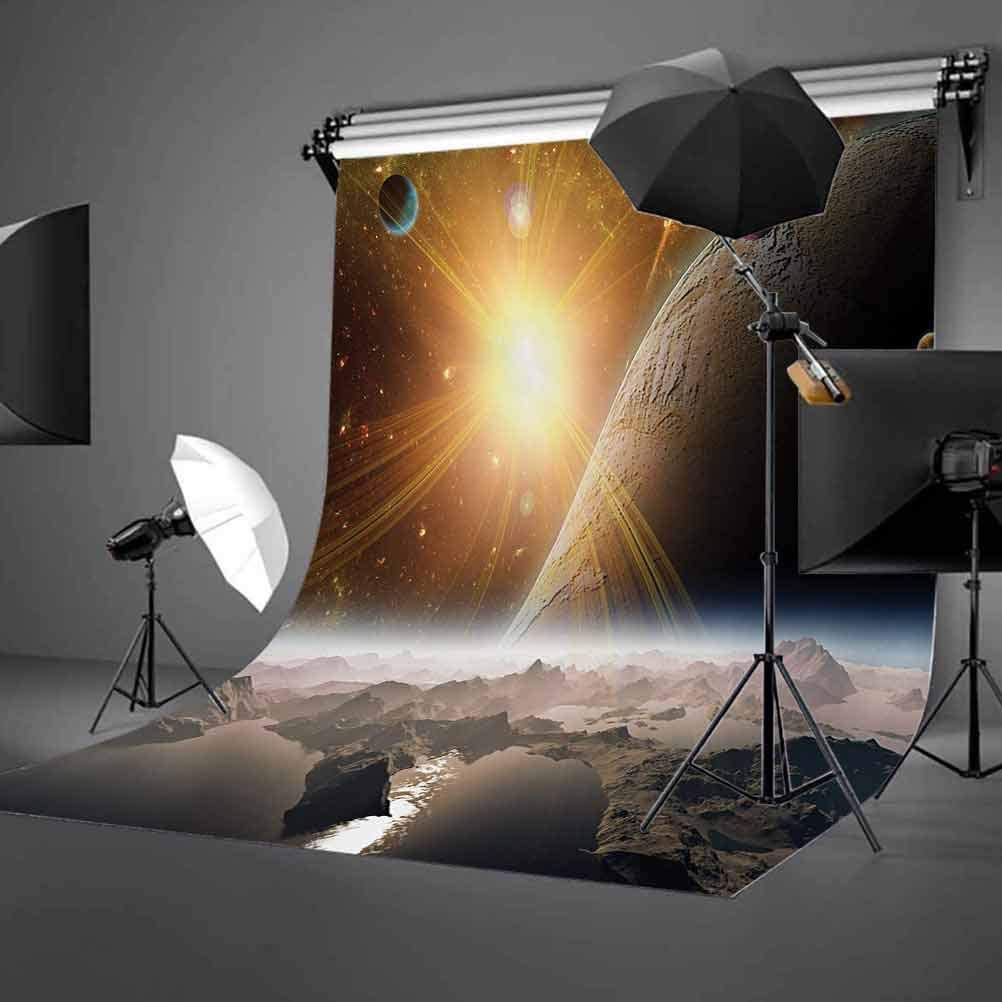 10x15 FT Photography Backdrop Moons and Universe View from The Earths Surface Galaxy Theme Art Print Background for Kid Baby Boy Girl Artistic Portrait Photo Shoot Studio Props Video Drape Vinyl