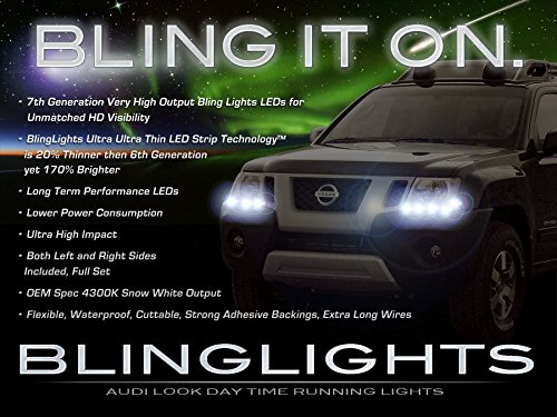 Amazon.com: Nissan Xterra LED DRL Head Light Strips Daytime ...