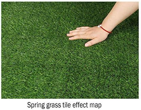 PING- 人工芝、 パイル高さ20mm 緑 屋内と屋外の風景 ペットの犬の芝生を自動的に浸透させる 5サイズ (Color : 2×1m)