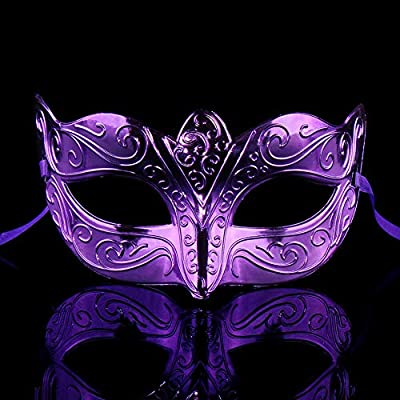 bjduck99 Butterfly Design Halloween Mask,Half Face Mask Kids Girls Cosplay Masquerade Party Props: Home & Kitchen