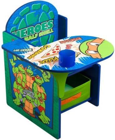 Nickelodeon - Silla de escritorio con contenedor de almacenamiento para adolescentes, diseño de Tortugas Ninja: Amazon.es: Juguetes y juegos