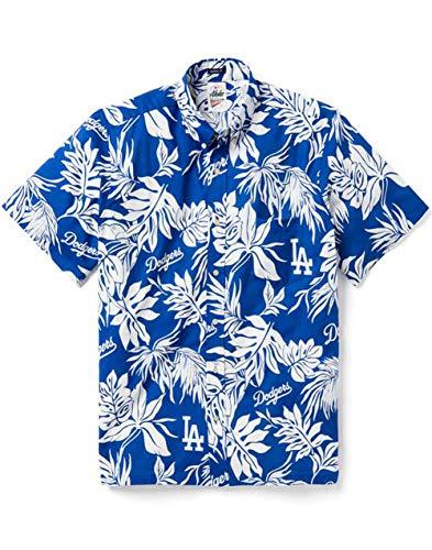 Reyn Spooner Men's Los Angeles Dodgers MLB Classic Fit Hawaiian Shirt, Aloha 2019, X-Large
