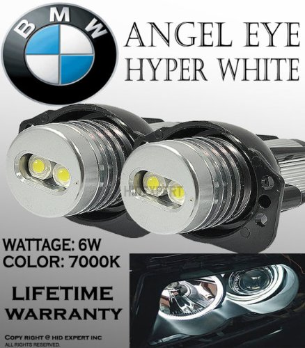 Price comparison product image eBoTrade ONE Pair E90,  E91, 63117161444 BMW Angel EYE Halo Ring LED Bulbs 7k White
