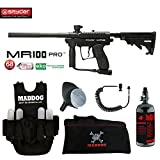 MAddog Spyder MR100 Pro Lieutenant HPA Paintball Gun Package - Black