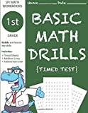 1st Grade Basic Math Drills Timed Test: Builds and Boosts Key Skills Including Math Drills, Addition and Subtraction Problem worksheets (SPI Math Workbooks) (Volume 3)