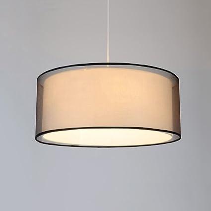 Gaoyu Lámpara de Tela Lámpara de Techo Lámpara Colgante E27 ...