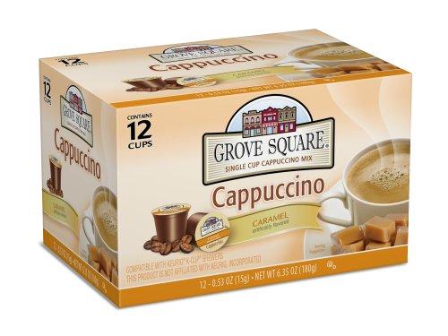 Grove Square Cappuccino, Caramel, 12 Single Serve Cups (P...