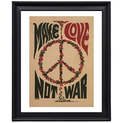 Make Love Not War Anti War 1967 Picture Frame - Poster - Print