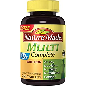 Nature Made Multi Complete Vitamin and Mineral, 250 Tablets (Pack of 3)