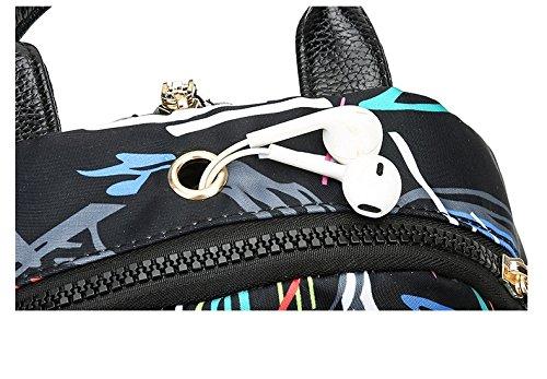 bandoulière B sac sac nylon à étudiant sac capacité dos sac voyage collège de à grande à dos en Femmes main à imperméable sac imprimé qfFHwnp