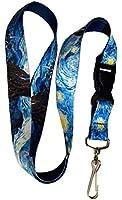 Buttonsmith® Van Gogh Starry Night Premium Lanyard