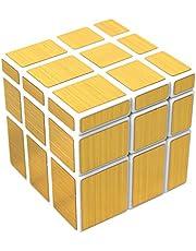 FCBB 3x3x3 Mirror Golden Speed Cube Puzzle White