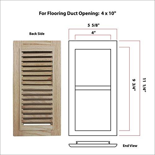 Welland hardwood self rimming floor register vent for Wood floor register 8 x 10