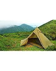 OneTigris Ultraleicht Pyramiden-Zelt mit Bergstock Campingzelt für 2 Personen (Coyote Braun)  MEHRWEG Verpackung (Coyote Braun2)