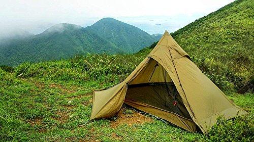 OneTigris TIPINOVA Ultraleicht Pyramiden-Zelt Campingzelt für 2 Personen, Keine Zeltstangen | MEHRWEG Verpackung (Coyote…