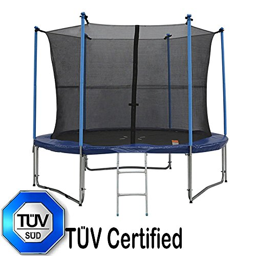 Zupapa 8 Feet Trampoline With Ladder Pole Enclosure Net