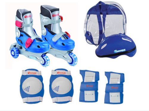 Chicago Boys Training Roller Skate Combo, Size J10 - J13 - In Line Hockey Helmets
