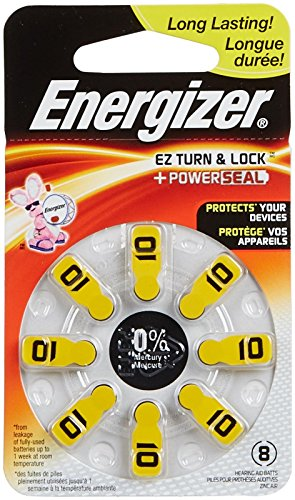 Energizer Size 10 Hearing Aid Battery (Eveready Hearing Aid Batteries)