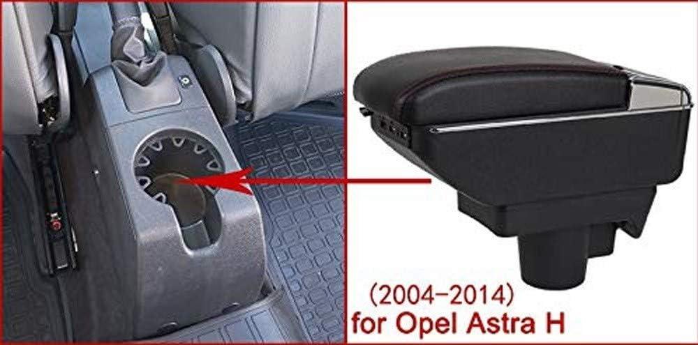 WHXJ Accoudoir de Voiture 7 bo/îte de Rangement de Console Centrale /à Double Hauteur USB avec cendrier et Porte-gobelet pour Opel Astra H 2004-2014