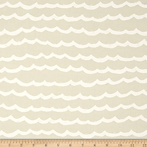 Cotton + Steel Kujira & Star Waves Sand Dollar Fabric by The Yard