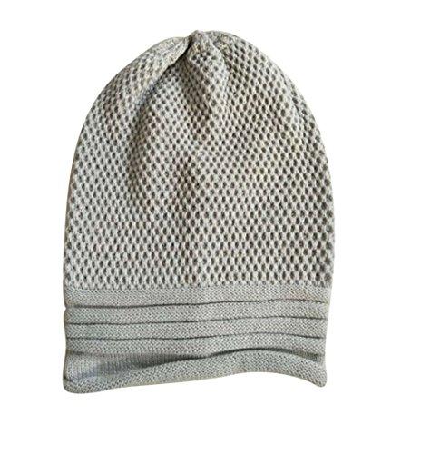 EINSKEY Knit Winter Warm Women Oversized Chunky Beanie Hat Baggy Slouchy Beanie Grey c2COxdIs