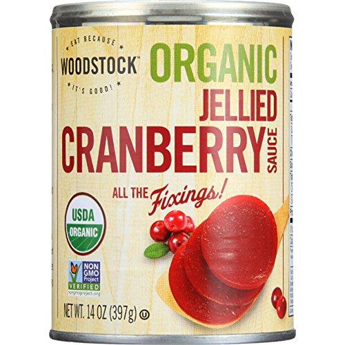 Woodstock Cranberry Sauce - Organic - Jellied - 14 oz - case of 24 - Non GMO