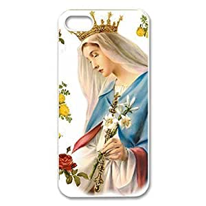 Back PC Case Virgin Mary Christian and Child Baby Jesus Protective PC Case for iphone 5 (White 020341)