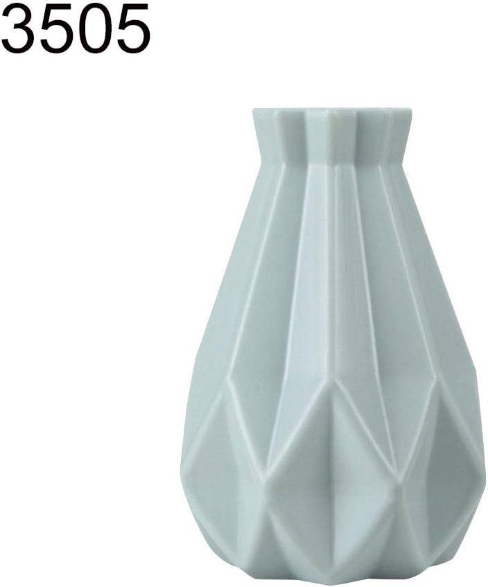 Fiesta decoraci/ón del hogar 3219 pl/ástico Pasillo Boda litty089 Jarr/ón de Flores de pl/ástico inastillable se Utiliza para Sala de Estudio Blanco /único y Delicado