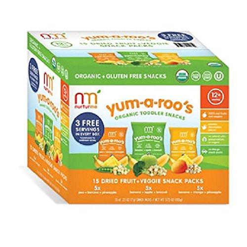 NurturMe Yum-A-Roo's Organic Toddler Snacks (0.25 oz.,15 ct.) (pack of 2)