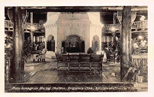 Real Photo Postcard Main Lounge at Seigniory Club in P.Q. Canada~118165