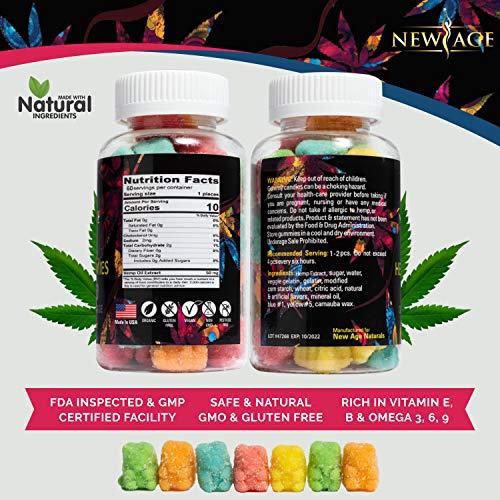 51pLw5i9tAL - (2 Pack) New Age Naturals Advanced Hemp Big Gummies 3000mg 120ct - 100% Natural Hemp Oil Infused Gummies