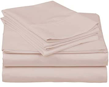 63c8cd6a0cbf True Luxury 1000-Thread-Count 100% Egyptian Cotton Bed Sheets, 4-Pc Queen  Blush Sheet Set, Single Ply Long-Staple Yarns, Sateen Weave, Fits Mattress  ...