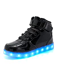 Coolloog Adult High Top 11 Colors LED Shoes USB Charging Flashing Sneakers Light up Shoes Birthday Party Halloween Christmas