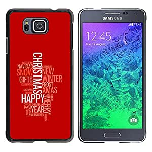CASEMAX Slim Hard Case Cover Armor Shell FOR Samsung ALPHA G850- MERRY HAPPY CHRISTMAS