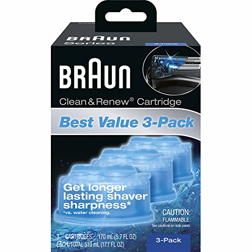 Price comparison product image Product of Braun Clean & Renew Cartridges,  3 pk. - Electric Shave Replacement Heads [Bulk Savings]