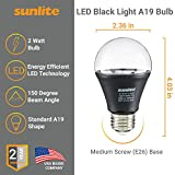 Sunlite 80114-SU LED A19 Black Light Bulb The Only