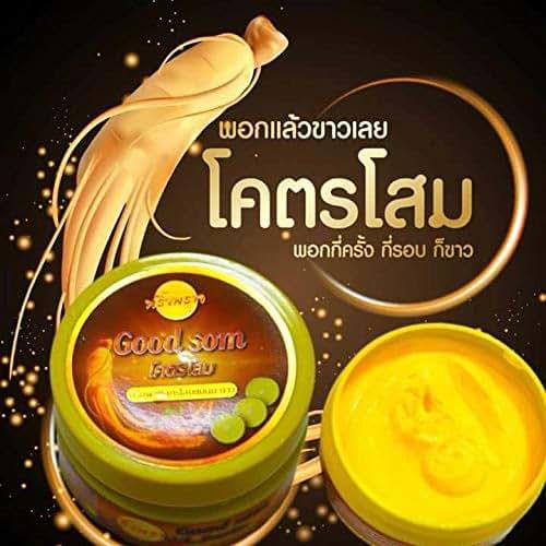 Good Som Ginseng Lime Body Lotion Scrub White skin mask reduces dark. Underarm Armpit Skin,White Cream White Groin,Armpits, Reduce black Elbow, Knee and elbow dark,rough skin bikini, Net.220 G.